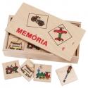 Fa memória játék: Járművek (32 db)