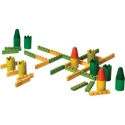 Castella vár építő fa társasjáték