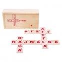 Kreatív fa dominó játék: Betűdominó (28 db)
