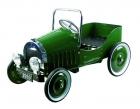 Pedálos fém autó (zöld)