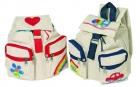 Kreatívan dekorálható vászon hátizsák