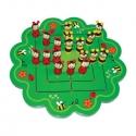 Állatfigurás malom - fa társasjáték katicás-leveles