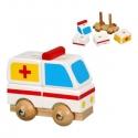 Szétszedhető mentőautó kicsi  - fajáték