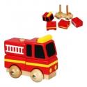 Szétszedhető tűzoltóautó kicsi  - fajáték