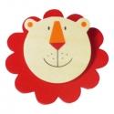 Csipeszes hűtőmágnes oroszlán - fajáték