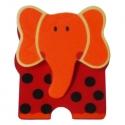 Csipeszes hűtőmágnes elefánt, piros  - fajáték