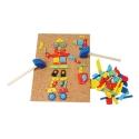 Fa puzzle 229 db-os kreatív mozaik fa kirakó: Fiús készlet