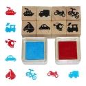 Fa játék nyomda készlet (8 db) - járművek