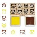 Fa játék nyomda készlet (8 db) - állatos
