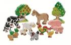 Fa háziállatok   - színes - GOKI fajáték