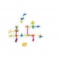 Kreatív 51 db-os kötélcsomózós fa kirakó és társasjáték: Csomók