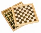 Fa 3:1-ben játék készlet: sakk, dáma, malom - GOKI fajáték