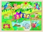 Fa puzzle 20 db-os fa kirakó: Dzsungel (rejtett képekkel)