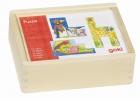 Mesekocka 4x3-as képkirakó kocka: Mókás állatok