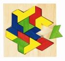 Fa puzzle 13 db-os kreatív fa kirakó: Origami