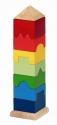 Torony építő - négyszögletes - GOKI fajáték