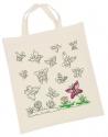 Kreatívan dekorálható vászon táska - pillangók