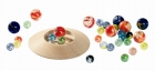 Üveggolyós játék - tányéros - GOKI fajáték
