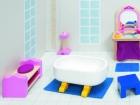 Fa babaház bútor királyi palotához, fürdőszoba