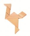 Fa ügyességi játék - Tangram  - GOKI fajáték