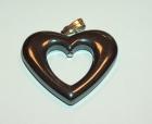 Féldrágakő medál - Hematit szív 2 cm