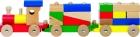 Fa vonat 13 építőkockával   GOKI fajáték