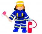 Fa baba hajlítható végtaggal, tűzoltó