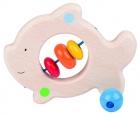 Fa babajáték: csörgő-rágóka, hal