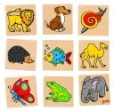 Fa memória játék - állatok