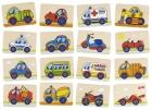 Fa memória játék - járművek