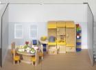 Fa babaház bútor konyha, kiegészítőkkel