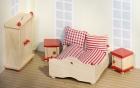 Fa babaház bútor, hálószoba