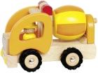 Fa játék autó, betonkeverő mixer