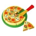 Szeletelhető fa játék pizza