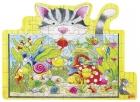 Fa puzzle, 53 db-os fa kirakó - Cica az akváriumnál