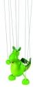 Fa marionett báb bábfigura - dinoszaurusz