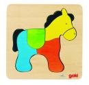 Fa puzzle 4 db-os fa kirakó: ló