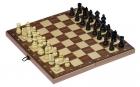 Fa sakk készlet, nagy táblás, 32 sakkbábuval