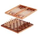 Fa sakk és backgammon készlet, közepes