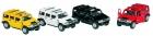 Mini fém model Hummer, lendkerekes, nyitható ajtókkal