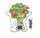 Fűzőcske, fűzős-fűzögetős játék, fűzhető fa - GOKI fajáték