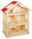 Fa babaház három szintes, bútorozatlan