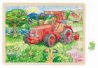 Fa puzzle 96 db-os  fa kirakó: Traktor