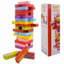 Fa játék jenga, dominó, memória