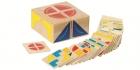 Kreatív 2x2-es fa képkirakó kocka 26 feladatkártyával