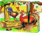 Mesekocka 4x3 db-os képkirakó kocka: Farm