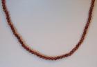 Golyós féldrágakő nyaklánc - Napkő, barna