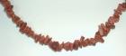 Törmelékköves féldrágakő nyaklánc - Napkő, szint. barna 40 cm