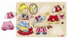 Fa puzzle 8 db-os fogantyús fa kirakó: Öltöztesd a hercegnőt!