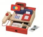 Fa játék pénztárgép igazi számológép funkcióval